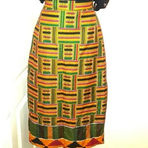 Dresses & Skirts - Kente Skirt and Head Wrap